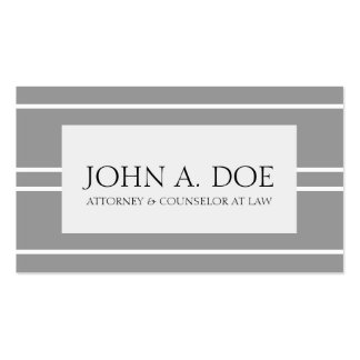 Attorney Lawyer Law Firm Silver White Stripes Pack Of Standard Business Cards