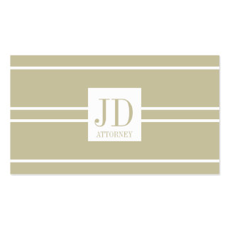 Attorney Lawyer Law Firm Tan White Striped Pendant Double-Sided Standard Business Cards (Pack Of 100)