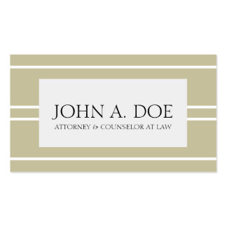 Attorney Lawyer Law Firm Tan White Stripes Pack Of Standard Business Cards