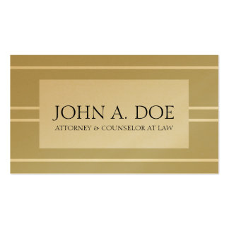 Attorney Lawyer Law Golden Tan White Stripes Pack Of Standard Business Cards