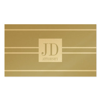 Attorney Lawyer Law Golden White Striped Pendant Double-Sided Standard Business Cards (Pack Of 100)