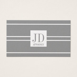 Attorney Lawyer Law Platinum White Striped Pendant Business Card