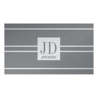 Attorney Lawyer Law Platinum White Striped Pendant Pack Of Standard Business Cards