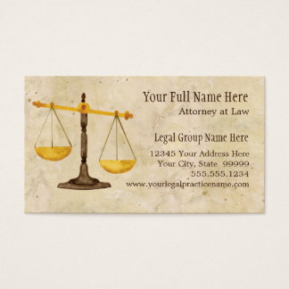 Attorney Lawyer Legal Practice Judge Symbol Business Card