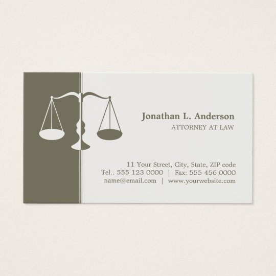 Attorney / Lawyer Professional business card