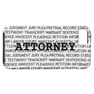 Attorney Legal Terminology Tough iPhone 5 Case