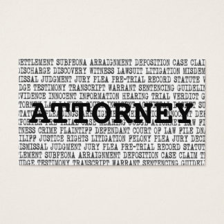 Attorney Legal Words Business Card