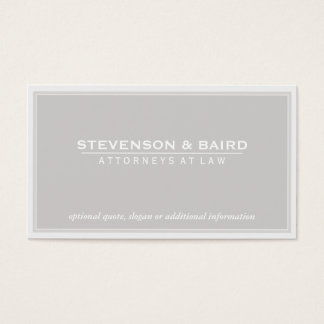 Attorney Light Gray Groupon Business Card