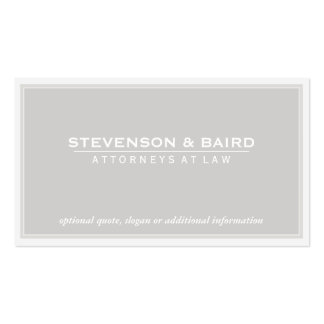 Attorney Light Gray Groupon Business Card Template