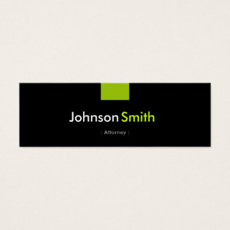 Attorney - Mint Green Compact Mini Business Card
