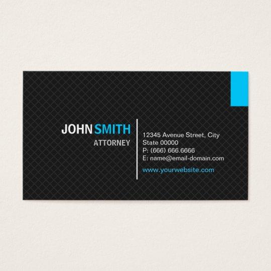 Attorney - Modern Twill Grid Business Card