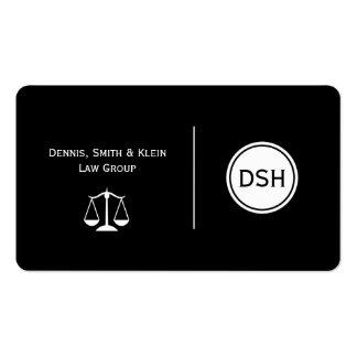 Attorney Monogram Business Cards