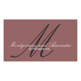Attorney Monogram Customizable Business Card