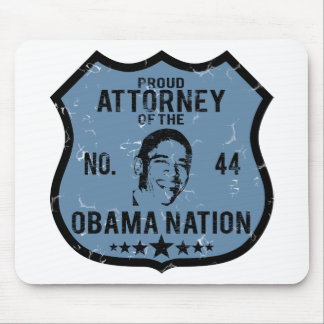 Attorney Obama Nation Mouse Pad