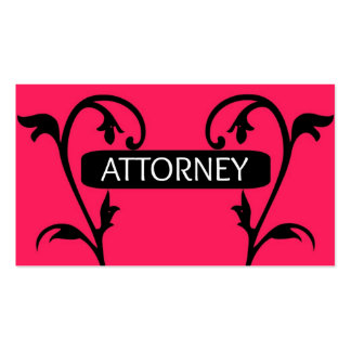 Attorney Pink Business Card
