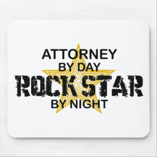 Attorney Rock Star by Night Mouse Pad