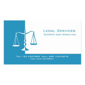 Attorney Scales of Justice Pack Of Standard Business Cards