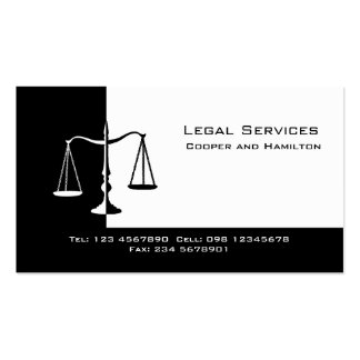 Attorney Scales of Justice Business Card Templates