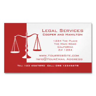 Attorney Scales of Justice Magnetic Business Cards