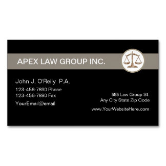 Attorney Theme Magnetic Business Cards