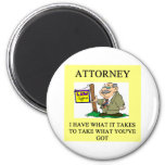 attorneys and lawyers joke 6 cm round magnet