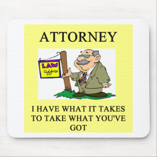 attorneys and lawyers joke mouse mat