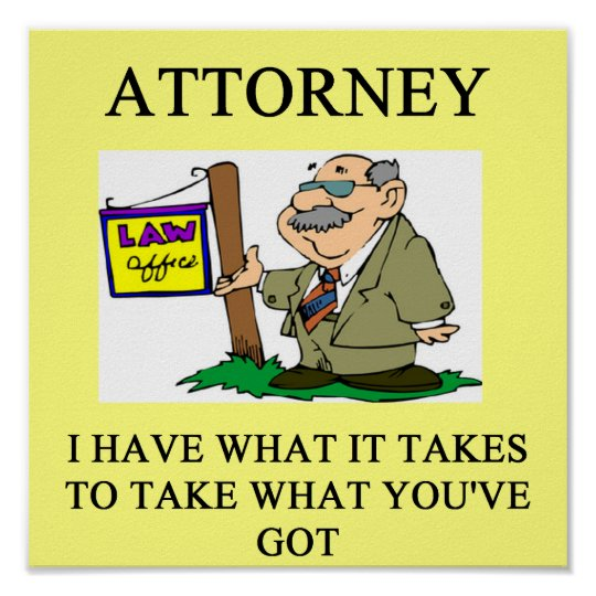 attorneys and lawyers joke poster