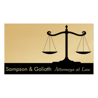 Attorneys at Law Business Card