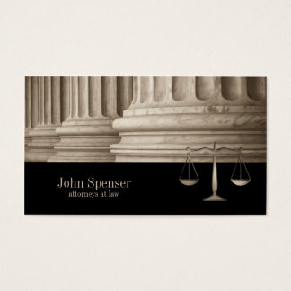 Attorneys At Law Corinthian Column Business Card
