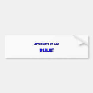 Attorneys At Law Rule Bumper Sticker