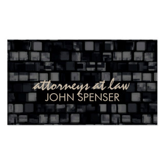 Attorneys At Law Square Pattern Dark Business Card