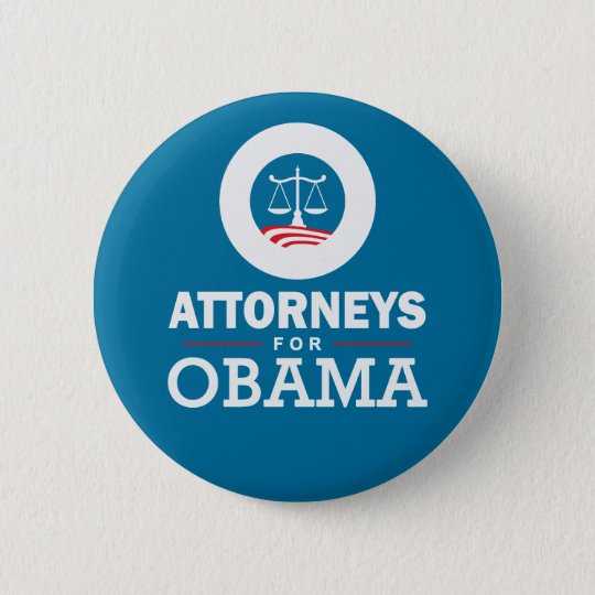 Attorneys for Obama 6 Cm Round Badge