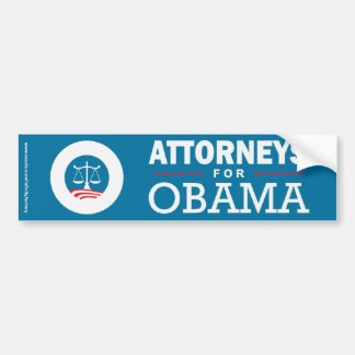 Attorneys for Obama Bumper Sticker