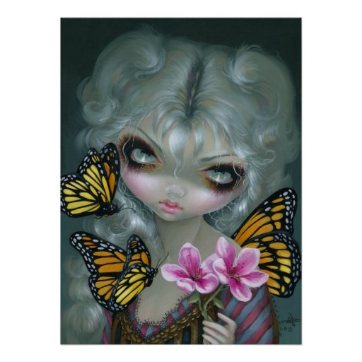 Attracting Butterflies ART PRINT gothic rococo fae