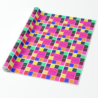 Attraction colour tile wrapping paper