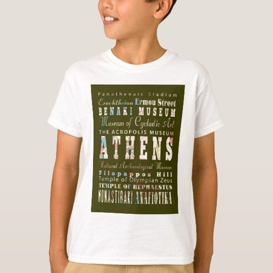 Attractions and Famous Places of Athens,Greece T-Shirt