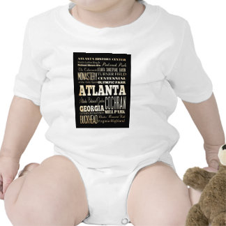 Attractions and Famous Places of Atlanta,Georgia T-shirt