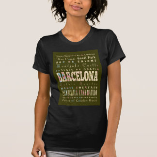 Attractions and Famous Places of Barcelona, Spain T-Shirt