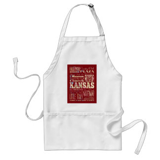 Attractions and Famous Places of Kansas, U.S Standard Apron
