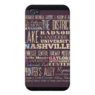 Attractions and Famous Places of Nashville iPhone 4 Case