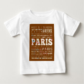 Attractions and Famous Places of Paris,France T Shirt