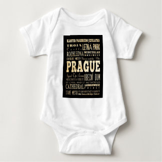 Attractions and Famous Places of Prague Baby Bodysuit