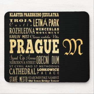 Attractions and Famous Places of Prague Mouse Mat