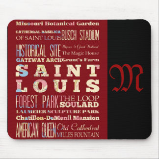 Attractions and Famous Places of St. Louis Mouse Mat