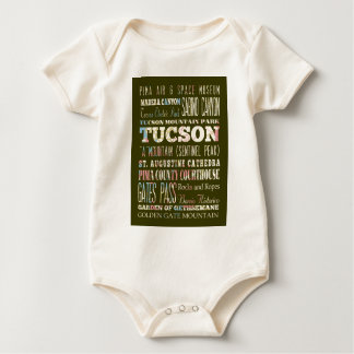 Attractions and Famous Places of Tucson,Arizona Baby Bodysuit