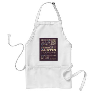 Attractions & Famous Places of Austin, Texas. Standard Apron