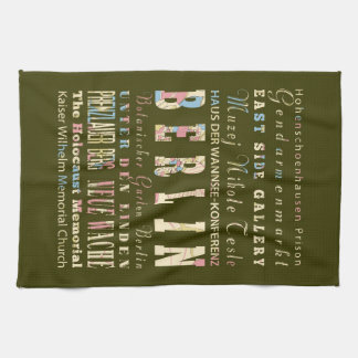 Attractions & Famous Places of Berlin,Germany. Tea Towel