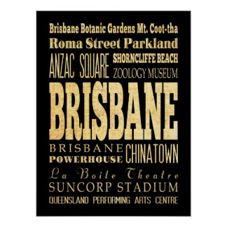 Attractions & Famous Places of Brisbane,California Poster