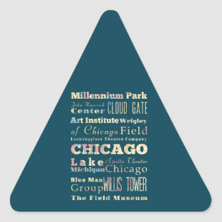 Attractions & Famous Places of Chicago, Illinois. Stickers