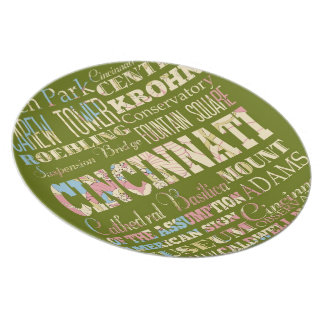 Attractions & Famous Places of Cincinnati, Ohio. Plate